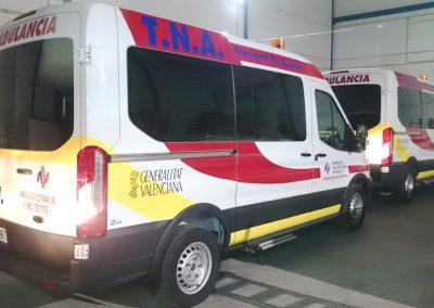 Rotulación ambulancia